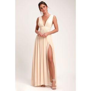 Champagne Cream Formal Dress